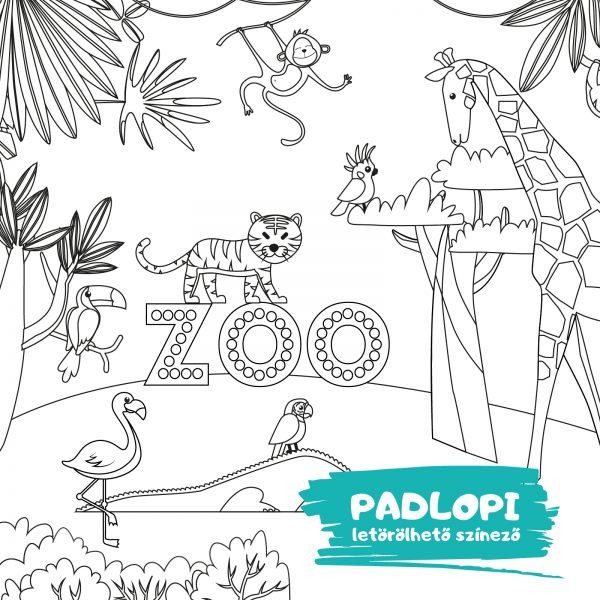 Állatkert Padlopi színező