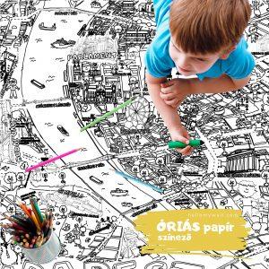 Budapest óriás papír színező