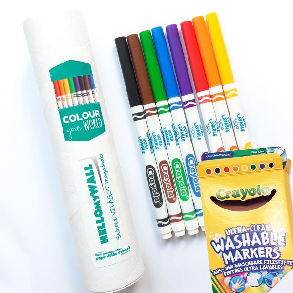 Crayola filctoll tartóban