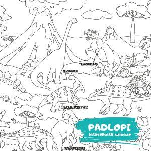 Dinoszaurusz Padlopi letörölhető óriás színező