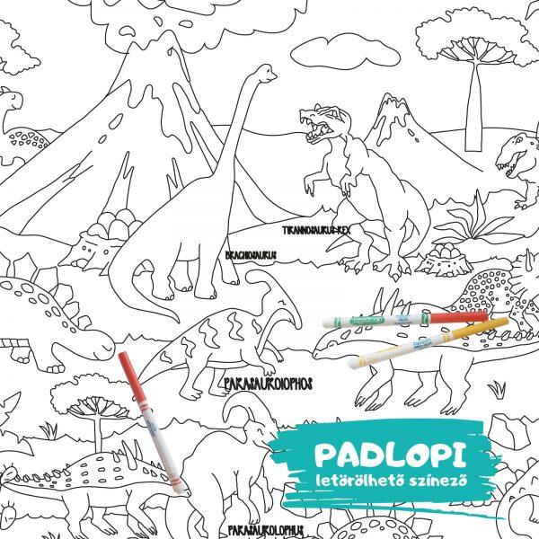 Dinoszaurusz Padlopi óriás színező