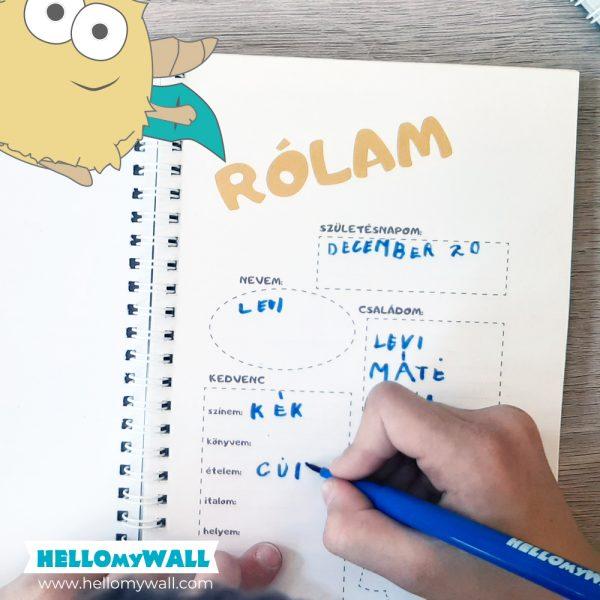 Hellop Napló kitöltős füzet