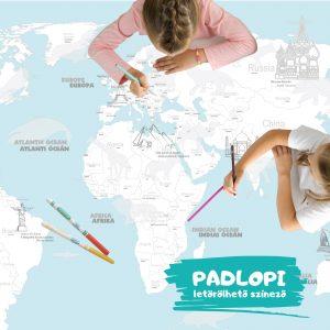 Óriás Világtérkép Padlopi színező